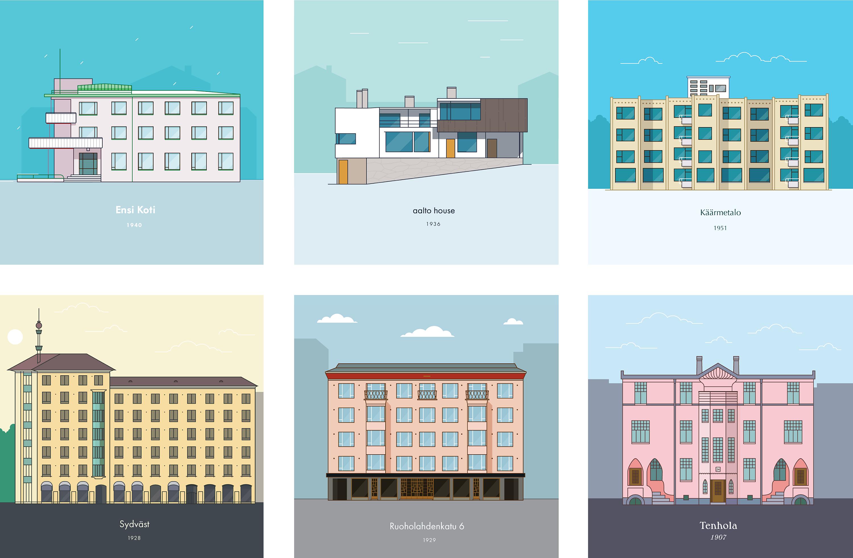 Arkkitehtuuria tutkimassa Helsingissä